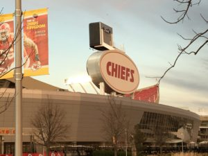 Arrowhead Stadium sunset